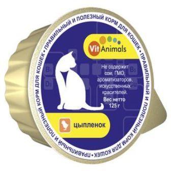 Vit Animals (Вит Энималс) - Консервы для кошек Цыпленок 125 гр