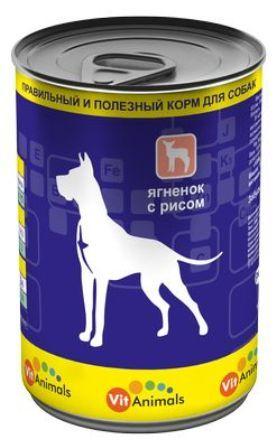 Vit Animals (Вит Энималс) - Консервы для собак Ягненок-рис 410 гр