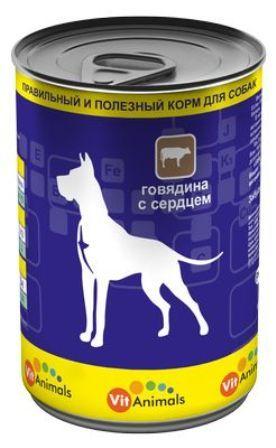 Vit Animals (Вит Энималс) - Консервы для собак Говядина-сердце 410 гр