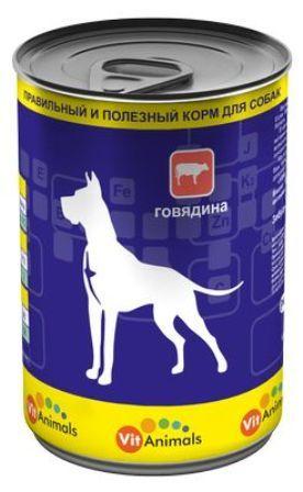 Vit Animals (Вит Энималс) - Консервы для собак Говядина 410 гр