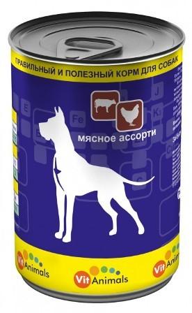 Vit Animals (Вит Энималс) - Консервы для собак Мясное ассорти 410 гр
