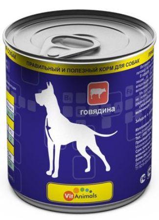 Vit Animals (Вит Энималс) - Консервы для собак Говядина 750 гр