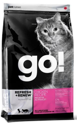 Go!Natural! Chicken Cat Recipe 32/20 (Гоу!Нэтурал! Чикен Кэт Ресайп 32/20) - Корм для кошек всех пород и возрастов (с курицей, фруктами и овощами) 0,23 кг