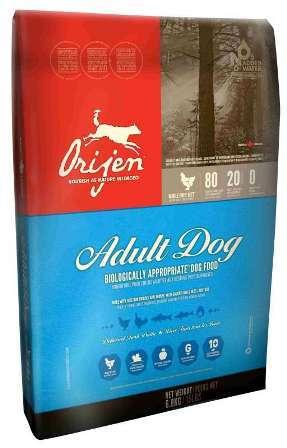 Orijen Adult 80/20 (Ориджен Эдалт 80/20) - Корм для собак всех пород с курицей (БЕЗЗЕРНОВОЙ) 18 кг