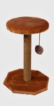 Дарэлл - Когтеточка с полкой (джутовая, размер 36*34*49 см)