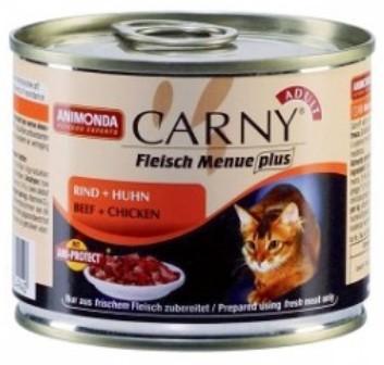 Animonda Carny Adult BeefΧcken (Анимонда Карни Эдалт Биф энд Чикен) - Консервы для взрослых кошек с говядиной и курицей 200 гр