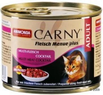 Animonda Carny Adult Сocktail Meat Mix (Анимонда Карни Эдалт Коктейл Мит Микс) - Консервы для взрослых кошек коктейль из разных сортов мяса 200 гр