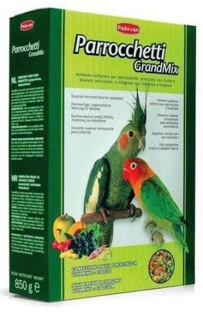 PADOVAN Grandmix Parrocchetti - Основной корм для средних попугаев 400 гр