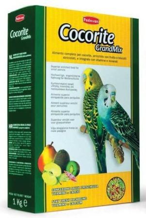 PADOVAN Grandmix Сocorite - Основной корм для волнистых попугаев 1 кг