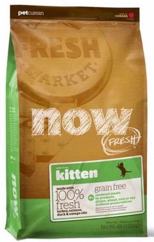 Now!Fresh! Grain Free Kitten Recipe 33/20 (Нау!Фреш! Грейн Фри Киттен Ресайп 33/20) - Корм для котят всех пород (БЕЗЗЕРНОВОЙ, индейка, утка и овощи) 0,1 кг