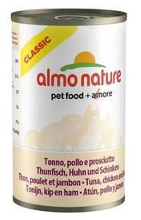 Almo Nature Adult Cat Tuna, Chicken&Ham (Алмо Натюр Эдалт Кэт Туна, Чикен энд Хэм) - Консервы для взрослых кошек с тунцом, курицей и ветчиной 140 гр