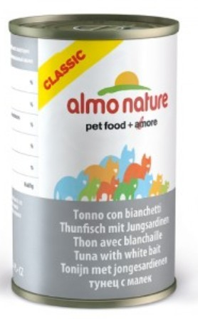 Almo Nature Adult Cat Tuna&White Bait (Алмо Натюр Эдалт Кэт Туна энд Уайт Бейт) - Консервы для взрослых кошек с тунцом и сардинками 140 гр