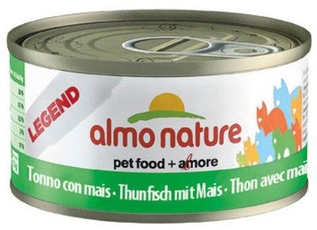 Almo Nature Legend Adult Cat Tuna&Sweet Corn (Алмо Натюр Легенд Эдалт Кэт Туна энд Суит Корн) - Консервы для взрослых кошек с тунцом и сладкой кукурузой 70 гр