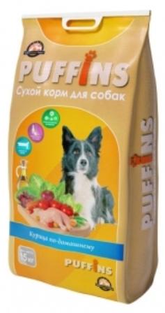 Puffins (Паффинс) - Корм для собак Курица по домашнему 15 кг
