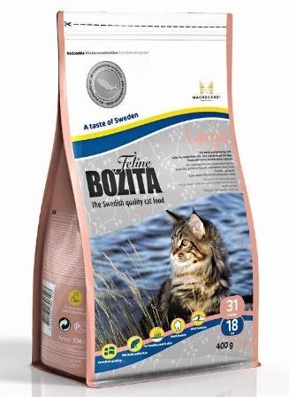 Bozita Super Premium (Бозита Супер Премиум) - Сухой корм для взрослых кошек крупных пород 0,4 кг