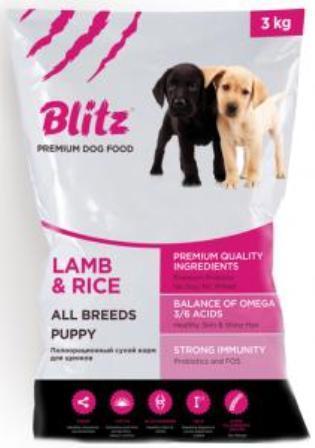 Blitz Puppy Lamb and Rice (Блитц Паппи Лэмб энд Райс) - Корм для щенков всех пород (ягненок с рисом) 3 кг