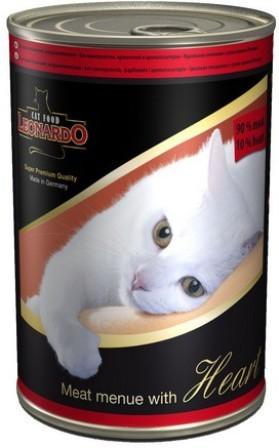 Leonardo (Леонардо) - Консервы для кошек Отборное мясо с сердцем 400 гр