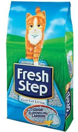 Fresh Step (Фреш Степ) - Впитывающий наполнитель для кошек с активированным углем Тройная защита 9,52 кг