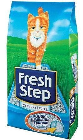 Fresh Step (Фреш Степ) - Впитывающий наполнитель для кошек с активированным углем Тройная защита 6,35 кг