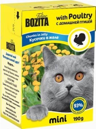 Bozita Super Premium Mini (Бозита Супер Премиум Мини) - Кусочки в желе для кошек с домашней птицей 190 гр