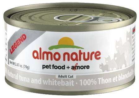 Almo Nature Legend Adult Cat Tuna&White Bait (Алмо Натюр Легенд Эдалт Кэт Туна энд Уайт Бейт) - Консервы для взрослых кошек с тунцом и сардинками 70 гр