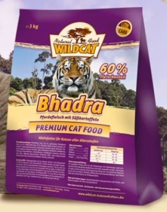 Wildcat Bhadra (Вайлдкэт Бхадра) - Корм для кошек всех пород и возрастов (конина) 3 кг