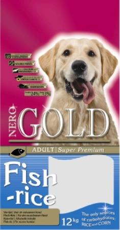 Nero Gold Super Premium Adult Fish&Rice 24/13 (Неро Голд Супер Премиум Эдалт Фиш энд Райс 24/13) – Сухой корм для взрослых собак всех пород (рыба и рис) 2,5 кг