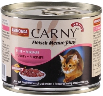 Animonda Carny Adult Beef, Turkey&Shrimps (Анимонда Карни Эдалт Биф, Токи энд Шримпс) - Консервы для взрослых кошек с говядиной, индейкой и креветками 200 гр