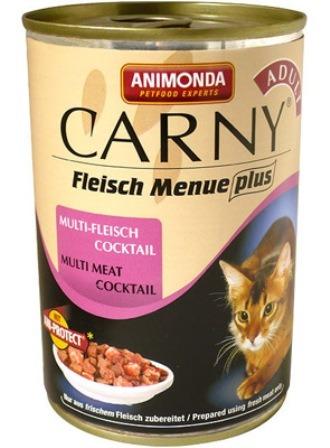 Animonda Carny Adult Сocktail Meat Mix (Анимонда Карни Эдалт Коктейл Мит Микс) - Консервы для взрослых кошек коктейль из разных сортов мяса 400 гр