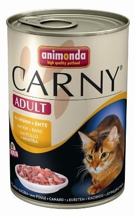 Animonda Carny Adult Beef, Chicken&Duck (Анимонда Карни Эдалт Биф, Чикен энд Дак) - Консервы для взрослых кошек с говядиной, курицей и уткой 400 гр