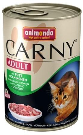 Animonda Carny Adult Beef, Turkey&Rabbit (Анимонда Карни Эдалт Биф, Токи энд Рэббит) - Консервы для взрослых кошек с говядиной, индейкой и кроликом 400 гр