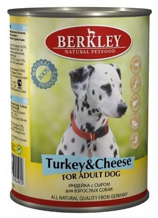 Berkley Adult Dog (Беркли Эдалт Дог) - Консервы для взрослых собак с индейкой и сыром 400 гр