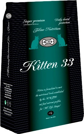 Gina Kitten (Джина Киттен) - Корм для котят всех пород 18 кг
