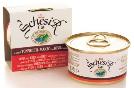 Schesir (Шезир) - Консервы для кошек с тунцом и говядиной 85 гр