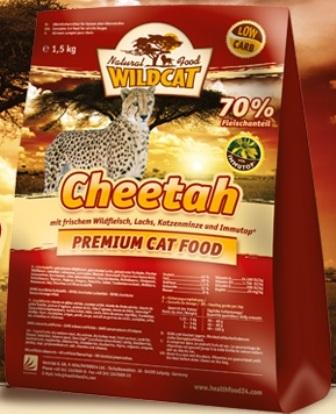 Wildcat Cheetah (Вайлдкэт Читах) - Корм для кошек всех пород и возрастов (оленина, лосось, индейка, ягненок) 0,5 кг