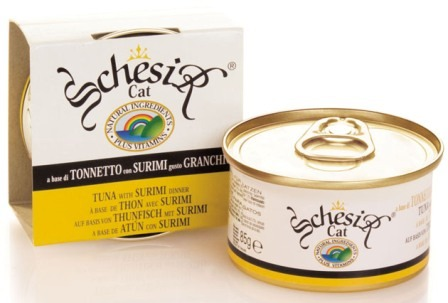 Schesir (Шезир) - Консервы для кошек с тунцом и крабами 85 гр