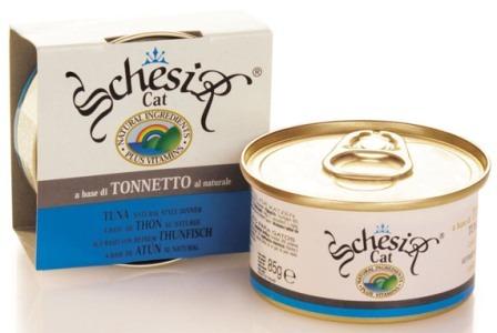 Schesir (Шезир) - Консервы для кошек с тунцом в собственном соку 85 гр