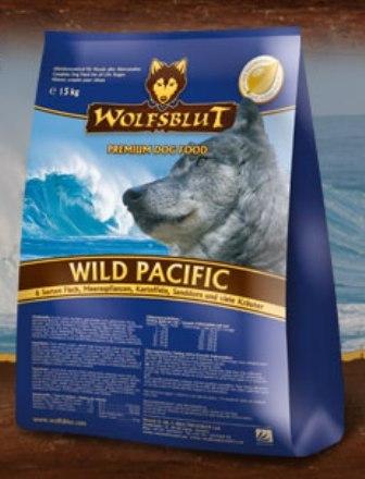 Wolfsblut Wild Pacific (Вулфсблат Вайлд Пасифик) - Корм для взрослых собак всех пород Волчья кровь Дикий океан (6 видов рыб, морепродукты и сладкий картофель) 15 кг