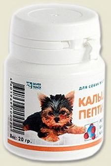 Мультитоник Кальций Пептид 5+ - Витаминная добавка с кальцием для собак мелких пород 20 гр