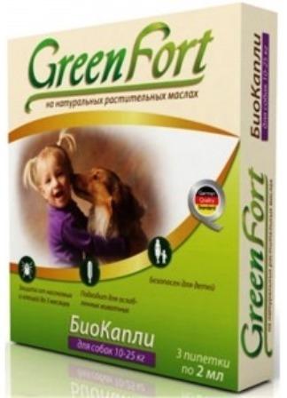 Green Fort Bio (Грин Форт Био) - Капли от блох и других эктопаразитов для собак средних пород 1,5 мл