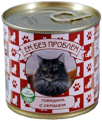 Зоогурман Ем Без Проблем - Консервы для кошек говядина с сердцем 250 гр