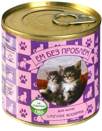 Зоогурман Ем Без Проблем - Консервы для котят мясное ассорти 250 гр