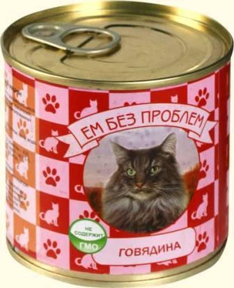 Зоогурман Ем Без Проблем - Консервы для кошек с говядиной 250 гр