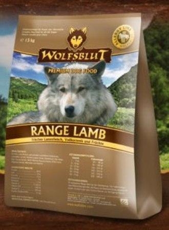 Wolfsblut Range Lamb (Вулфсблат Ранж Лэмб) - Корм для взрослых собак всех пород Волчья кровь Рацион с ягненком (ягненок, рис и яблоки) 15 кг