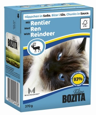 Bozita Super Premium (Бозита Супер Премиум) - Кусочки в соусе для кошек с оленем 370 гр