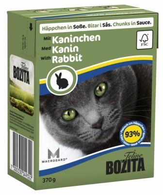 Bozita Super Premium (Бозита Супер Премиум) - Кусочки в соусе для кошек с кроликом 370 гр