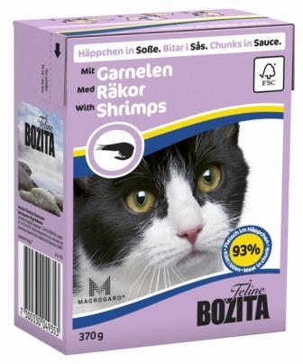 Bozita Super Premium (Бозита Супер Премиум) - Кусочки в соусе для кошек с креветками 370 гр