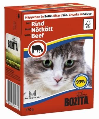 Bozita Super Premium (Бозита Супер Премиум) - Кусочки в соусе для кошек с говядиной 370 гр