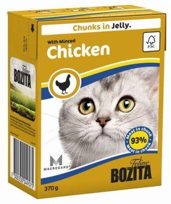 Bozita Super Premium (Бозита Супер Премиум) - Кусочки в желе для кошек с рубленной курицей 370 гр