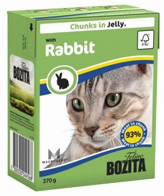 Bozita Super Premium (Бозита Супер Премиум) - Кусочки в желе для кошек с кроликом 370 гр